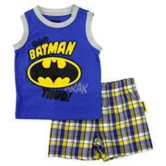 2-pc. Batman Short Set Baby Boys