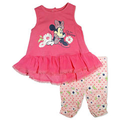 2-pc. Minnie Mouse Legging Set-Baby Girls