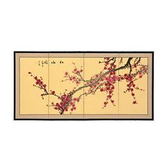 Oriental Furniture Plum Blossom Wall Sculpture