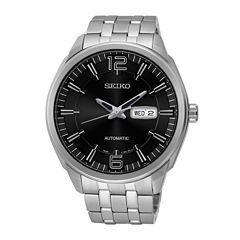 Seiko® Recraft Mens Stainless Steel Automatic Watch SNKN47