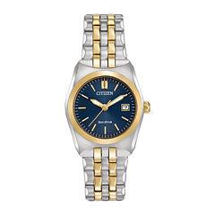 Citizen® Eco-Drive® Corso Womens Two-Tone Stainless Steel Bracelet Watch EW2294-53L