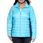 Columbia® Frosted Ice™ Hybrid-Quilted Jacket - Plus