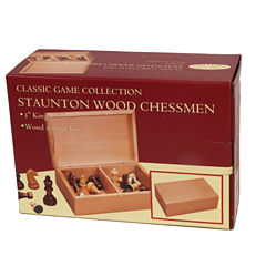 Stauton Wood Chessmen--3.0 King