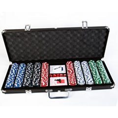 500 Heavy-Weight Poker Chips In Aluminum Case