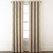 Home Expressions™ Dalton Embroidered Grommet-Top Curtain Panel