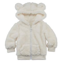 Arizona Teddy Sherpa Hoodie - Baby Girls 3m-24m