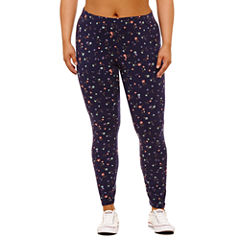 Flirtitude Floral Jersey Leggings-Juniors Plus