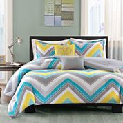 Intelligent Design Ariel Chevron Comforter Set