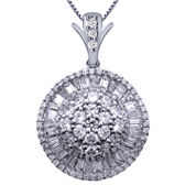 2 CT. T.W. Certified Diamond 14K White Gold Pendant Necklace