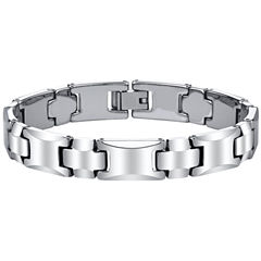 Men's Polished Tungsten Bracelet