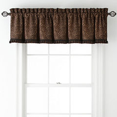 Royal Velvet® Corbin Leopard Rod-Pocket Tailored Valance