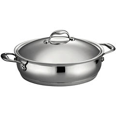 Tramontina Gourmet Domus 5-qt. 18/10 Stainless Steel Induction-Ready Braiser with Lid