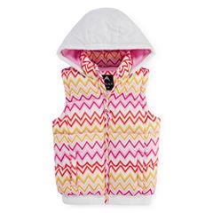 Vertical 9 Hooded Puffer Vest - Girls 7-16