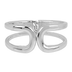 Worthington® Hinged Silver-Tone Bangle Bracelet