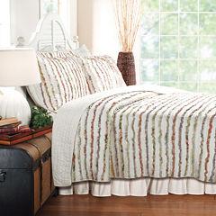 Greenland Home Fashions Bella Ruffle Stripe Quilt Set