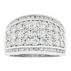 Womens 2 CT. T.W. White Diamond 10K Gold Wedding Band