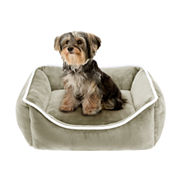 Sleep Philosophy Sawyer Plush Rectangular Cuddler Dog Bed