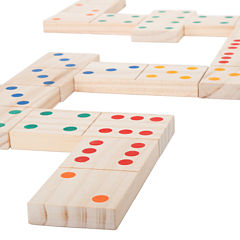 Hey! Play! Giant Wooden Dominoes Set