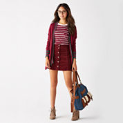 Arizona Varsity Cardigan, Striped Ringer Tee or Corduroy Button-Front Skirt