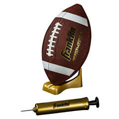 Franklin Sports Grip-Rite® Pump & Tee Football Set-Junior