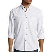 Arizona Long-Sleeve Nep Chambray Woven Shirt
