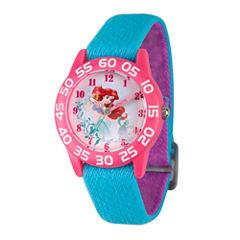 Disney Princess Ariel The Little Mermaid Girls Blue Strap Watch-Wds000171