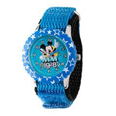 Disney Mickey Mouse Boys Blue Strap Watch-Wds000185