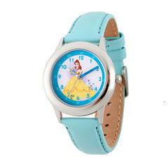 Disney Princess Belle Beauty and the Beast Girls Blue Strap Watch-Wds000191