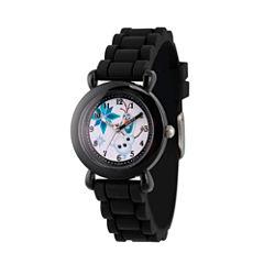 Disney Princess Olaf Frozen Boys Black Strap Watch-Wds000227