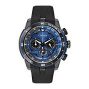 Citizen® Eco-Drive® Mens Blue Dial Chronograph Watch CA4155-12L