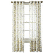 MarthaWindow™ Kew Meadow Grommet-Top Semi-Sheer Panel