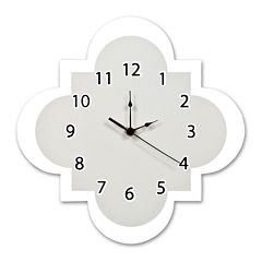 Trend Lab® Gray Quatrefoil Wall Clock