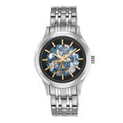Armitron® Mens Black and Silver-Tone Bracelet Watch