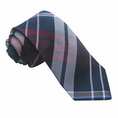 Stafford® 3-Bar Plaid Silk Tie