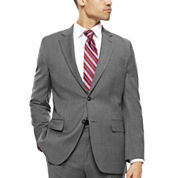 Stafford® Travel Classic-Fit Stretch Charcoal Windowpane Suit Jacket