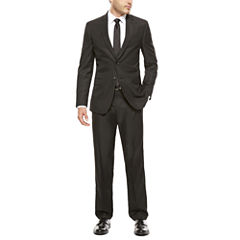 JF J. Ferrar Black Box Check Suit Separates-Slim Fit