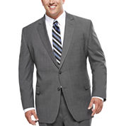 Stafford® Travel Stretch Charcoal Windowpane Suit Jacket - Big & Tall