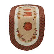 Design Imports Country Pumpkin Braided Jute Table Runner
