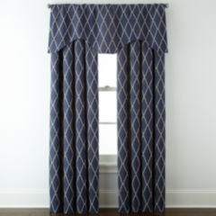 lined valances curtains & drapes for window - jcpenney