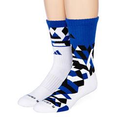 adidas ® Mens 2-pk. Camo Crew Socks