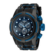 Invicta® Reserve Bolt Zeus Mens Black Stainless Steel Chronograph Sport Watch 19485