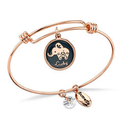 Footnotes Footnotes Womens Clear Brass Bangle Bracelet