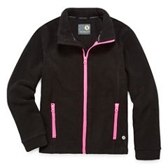 Xersion Girls Lightweight Fleece Jacket-Big Kid