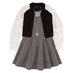 Total Girl Sleeveless Skater Dress - Big Kid Girls