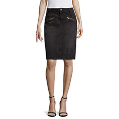 a.n.a® Front-Zip Mini Skirt - Tall