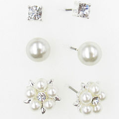 3 Pair Brass Earring Sets