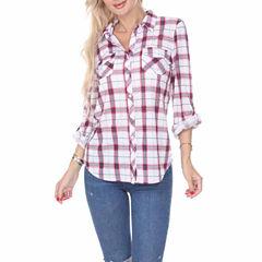 White Mark Oakley Plaid Button-Front Shirt