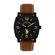 U.S. Polo Assn. Mens Brown Strap Watch-Usc50391