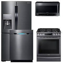Samsung 4-pc. Electric Kitchen Package- Black Stainless
