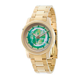 Classic Marvel Mens Gold Tone Strap Watch-Wma000056
